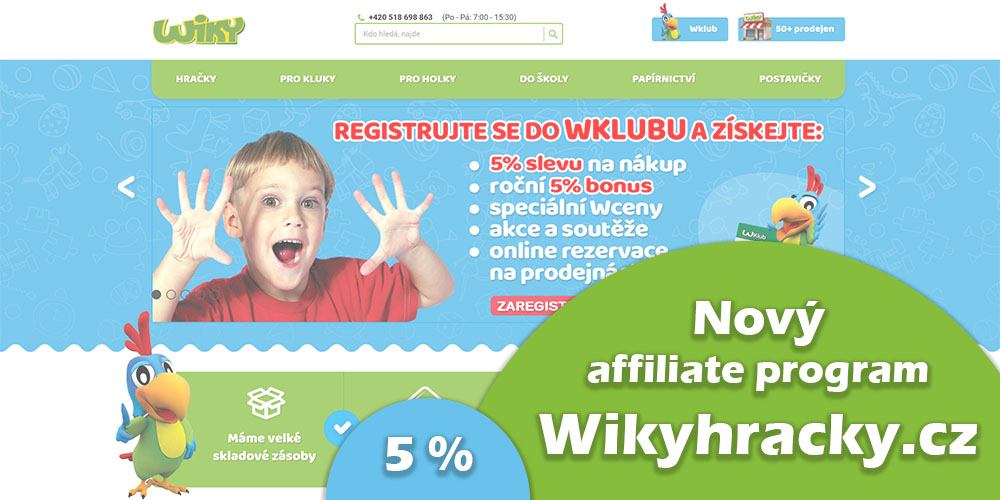 wikyhračky affiliate